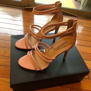 Bebe heels size 7.5 light pink